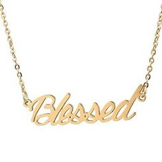 Bijoux – Tendance : HUAN XUN Custom Name Necklace Personalized Initial Necklaces in Golden Silver Custom Name Necklace, Personalized Necklace, Latest Jewellery Trends, Jewelry Trends, Steel Gifts, Earring Trends, Ankle Bracelets, Gold Necklace, Initial Necklaces