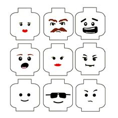 LEGO Minifigure Printable Faces | Lego in a Spoon Relay: