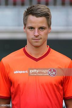 Michael Schindele of 1FC Kaiserslautern poses during the team presentation at FritzWalter Sadion on July 15 2014 in Kaiserslautern Germany