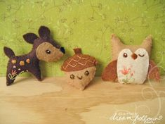 Woodland animals pattern