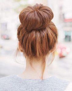Pinterest hair buns Modern Top Knot