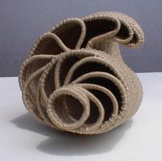 Nautilus Rope Basket, Basket Weaving, Sisal, Contemporary Baskets, Foam Stamps, Pine Needle Baskets, Fabric Bowls, Weaving Art, Weaving Patterns