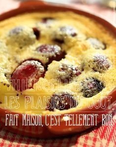 Clafoutis aux cerises au Timut World's Best Food, Good Food, Mets, French Food, Muffin, Toast, Pie, Stuffed Peppers, Cooking