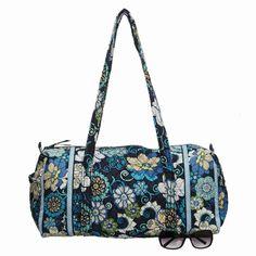 Vera Bradley Gym Bag...Mod Blue Floral