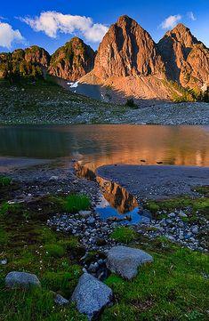 Triangular Towers, by Bryan Swan via Flickr. North Cascades National Park, Washington State