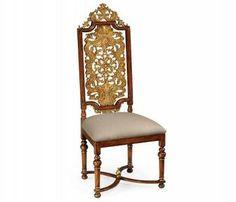 Jacobean style gilt walnut side chair shop at www.nuggetcourt.ca