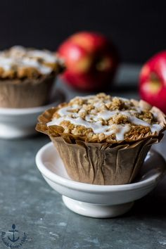 These Apple Spice Crumb Muffins are the perfect little breakfast treat to…