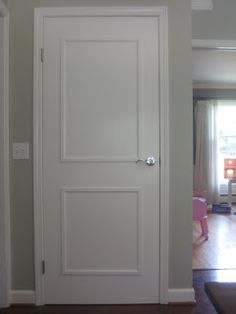Paint in my Hair: Adding Molding to Flat Panel Doors