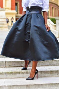 The belt, the skirt, the shirt, them heels....mmmmm
