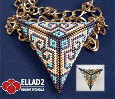 This Peyote Triangle looks great as pendant on a necklace… In this Tutorial you will learn how to make a triangle (3D effect) with peyote stitch.
