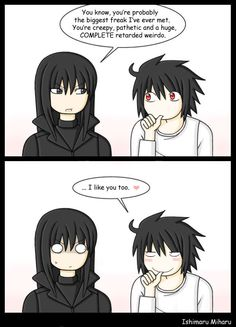 Another Note: Misunderstanding by ishimaru-miharu on DeviantArt Death Note Anime, Death Note Fanart, Vampire Knight Funny, Nate River, L Lawliet, One Piece, Birthday Photos, Black Butler, Manga Anime