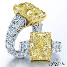 Radiant Fancy Yellow Diamond Ring - JB Star - Product Search - JCK Marketplace