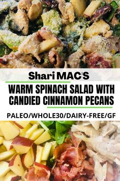 This PALEO & WHOLE30 spinach salad is exploding with all the taste sensations. Add a glass of wine and go to culinary heaven! #paleo,#paleorecipes,#paleodinner,#Whole30,#Whole30recipes,#whole30dinner,#glutenfree,#glutenfreerecipes,#glutenfreedinner,#glutenfreerecipesfordinner,#antiinflammatorydiet,#antiinflammatoryrecipes,#grainfree,#grainfreediet,#grainfreerecipes,#grainfreedinner,#paleoandwine,#glutenfreeandwine,#dairyfreediet,#dairyfreerecipes,#dairyfreedinner,