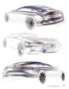 BMW Luxury Coupe Sketches on Behance