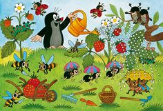 Ravensburger The Mole In The Garden Jigsaw Puzzle 2 X 24 - Educational Toys Planet La Petite Taupe, Puzzle Ravensburger, The Mole, Childhood Toys, Puzzles For Kids, Kitsch, Illustrations And Posters, Children's Book Illustration, Drawing For Kids