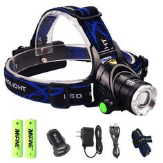 Mifine Waterproof LED Headlamp with Zoomable 3 modes 1000 Lumens light ** See this great product. (This is an affiliate link) #LightsandLanterns
