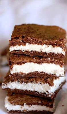 Oreo Cream FIlled Brownies