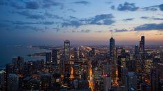 Skyscrapers in Night City | #desktop #wallpapers #DesktopWallpaper #cityscape #lighting #NightLight #nightlife #nighttime #skyscrapers