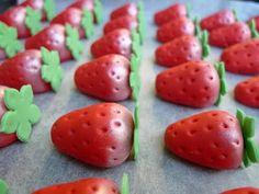 My fondant strawberries!