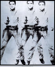 "Warhol's ""Triple Elvis"" multiple, 1963 — See recent auction results for it on Warren's home page."