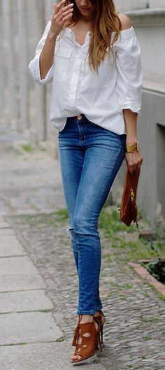 Asos Jeans + H&M Blouse