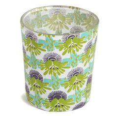 Petit photophore en papier décoré - Un joli photophore au motif d'inspiration végétale pour illuminer la table de fête - 2 €