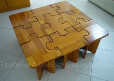 DIY - puzzle coffee table