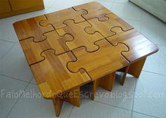 DIY - puzzle coffee table
