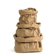 Harmaa Uashmama pussi koko S Large Indoor Plants, Large Planters, Bread Bags, Paper Table, Shops, Plastic Trays, Paper Plane, Desk Accessories, Mild Soap