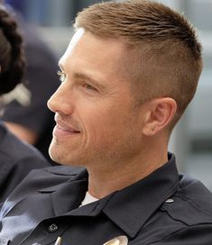 hair and beard styles Trailer, promos, clips, featurette, images and poster for ABC's new series THE ROOKIE starring Nathan Fillion. Cool Haircuts, Haircuts For Men, Short Hair Cuts, Short Hair Styles, Eric Winter, Gents Hair Style, Boy Hairstyles, Hair And Beard Styles, New Hair