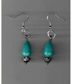 Dangling Turquoise Teardrop Earrings... Free Shipping!! $7.80