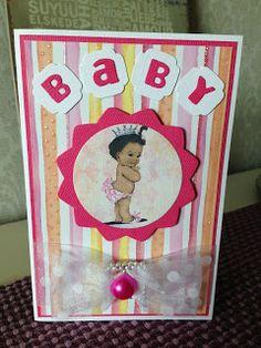 Randis hobbyverden: Matchende kort til rosa gaveboks til baby