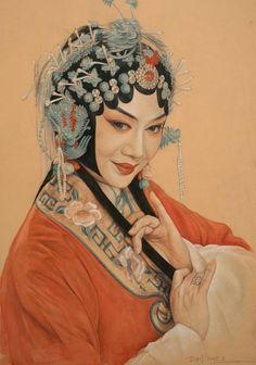 Portrait of Beijing Opera actresses