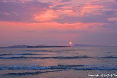 Summer Sunset on de west coast of Corfu, Agios Stefanos, Peloponnese Western Greece, Ionian Island_ Greece