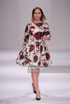 Natasha Bure walks the runway during Sherri Hill fashion show during New York Fashion Week at Gotham Hall on September 12, 2016 in New York City.