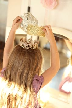DIY Lace Crowns - perfect for little princesses or photography props!