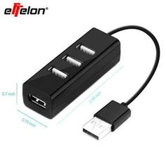 high speed USB hub mini 4 ports USB port sharing switch for laptop PC computer peripherals accessories