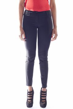 7//8 Capri Elasticizzato-Jeans Pantaloni in alla moda Used-Look-Light Blue