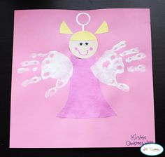 handprint Christmas angel craft