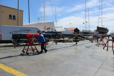 ‪#‎RiggingManagerRuss‬ was heavily involved with this project due to his vast amount of experience with high performance ‪#‎raceyachts‬... Marten 72 ‪#‎SYAragon‬, currently at rsb... #‎RiggingInPalma‬ www.rsb-rigging.com