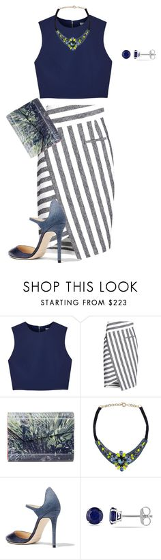 """""""my item mix up/always blue"""" by kristie-payne ❤ liked on Polyvore featuring Alice + Olivia, Altuzarra, Jimmy Choo, Matthew Williamson and Allurez"""