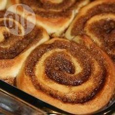 Foto da receita: Cinnamon Rolls (pão de canela americano)