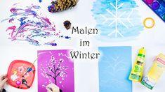 Malen mit Kinder: 6 Ideen zum Malen im Winter   MamaKreativ