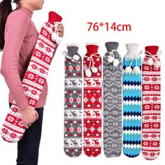Extra Long 2L Hot Water Bottle PVC Removable Washable Fleecy Cover Knitted ZB | eBay Water Bottle Covers, Mattress Covers, Cover Model, Hilarious, How To Remove, Hot, Ebay, Products, Mattress Pad
