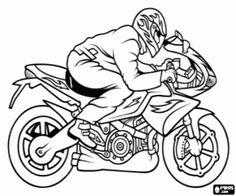 Sport мотоциклети с пилотен оцветяване страница