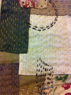 Slow stitch patchwork