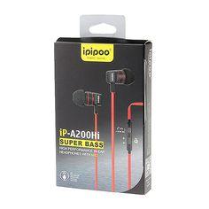 هندزفری اورجینال ip-A200Hi محصول شرکت ipipoo با کیفیت ساخت خوبی که دارد موسیقی با کیفیتی برای شما پخش مینماید. درایورهای به کار رفته در ساخت هدفون 10 میلیمتر است که سایز مناسبی به محصول بخشیده و در بستهبندی محصول 3 سایز مختلف گوشی S/M/L عرضه میشود. شما با وجود حساسیت 116 دسیبل در هندزفری حتی ریزترین صداها را با کیفیت عالی خواهید شنید، همچنین با کابل به طول 1.2 متر و از نوع تخت در موقعیتهای مختلف از کشیدگی و پارگی هندزفری جلوگیری به عمل خواهد آمد.