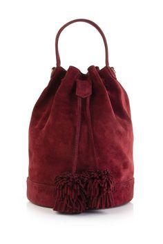 Mehry Mu Bordo Süet Hammam Bucket Çanta ile tarzını ve şıklığını tamamla, modayı keşfet. Birbirinden güzel Omuz Çantası modelleri Lidyana.com'da!