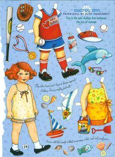 (⑅ ॣ•͈ᴗ•͈ ॣ)♡ ✄Paper Doll Audrey Ann paper doll collection | Mary Engelbreit