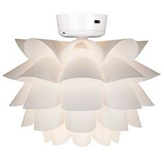 White Flower Ceiling Fan Light Kit - #K9774 | LampsPlus.com